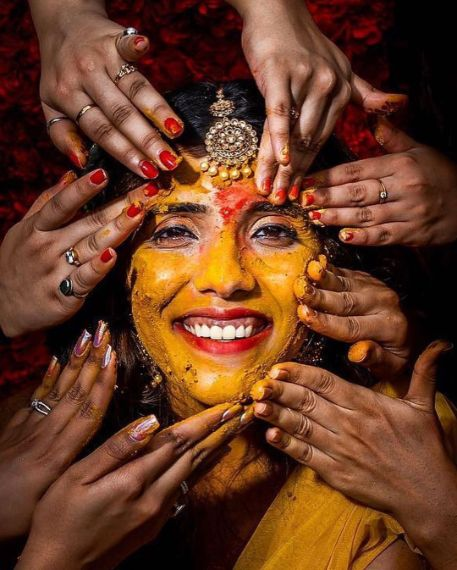 amazing haldi day photography | Wedding Trends for Haldi Ceremony