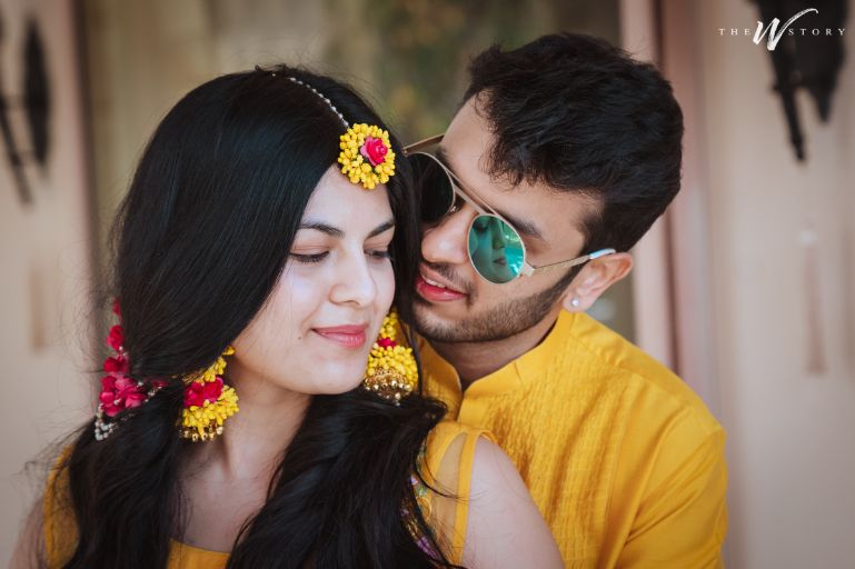 haldi ceremony | haldi jewellery | couple haldi photoshoot ideas | Destination Wedding in Jaipur