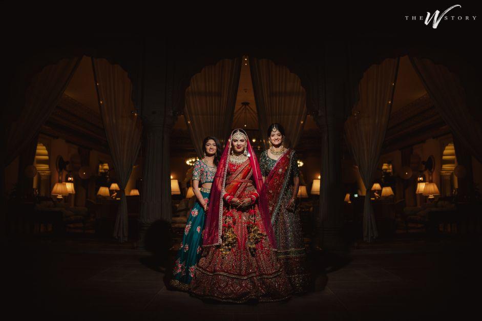 indian wedding photography with brides trive | Destination Wedding in Jaipur