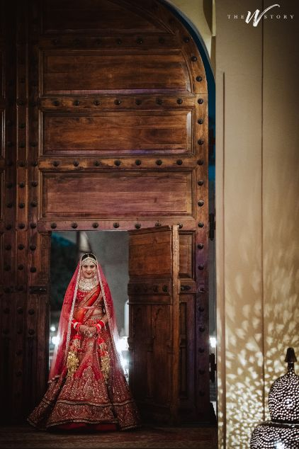 indian photography of a bride