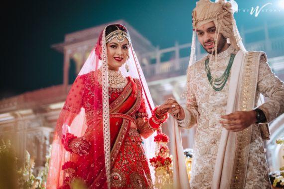 hand in hand | indian bride & groom