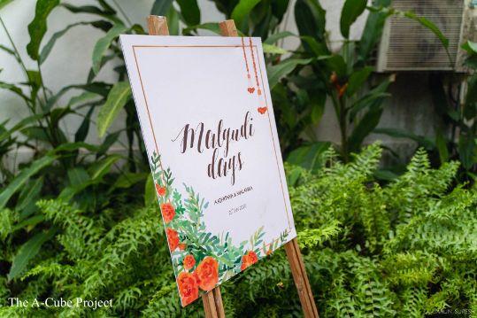 mehendi ceremony signboard