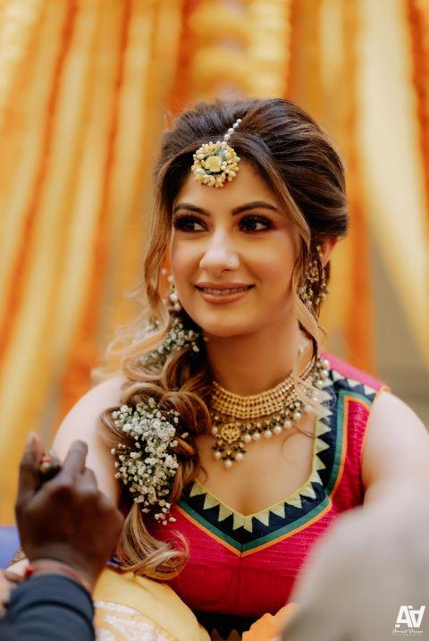 mehendi day look | bridal makeup for mehendi day