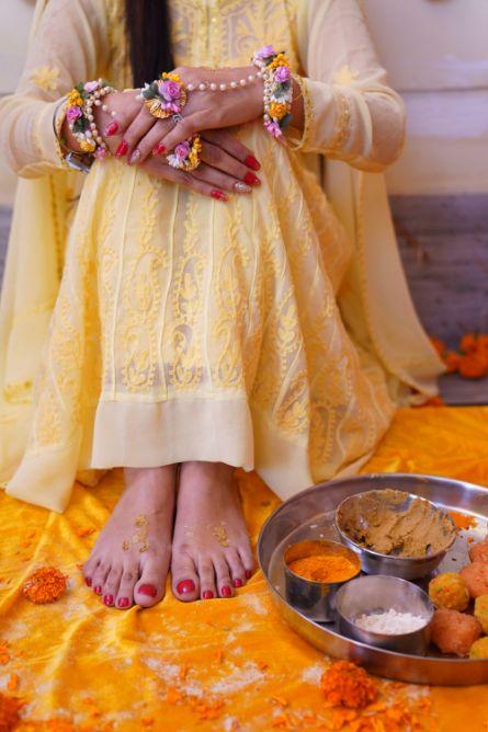 haldi ceremony | yellow outfit for haldi
