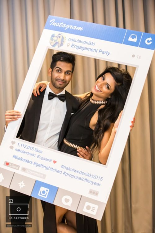 thankyou notes to your wedding guests instagram photobooth | indian wedding instagram photobooth ideas | #wittyvows #thankyounotes