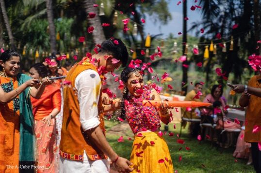 little fun at phoolon kii holi ceremony