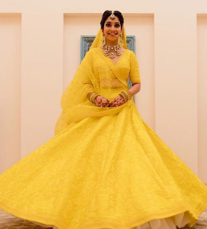 amazing yellow lehenga for the briide | Super Unique Sabyasachi Lehengas