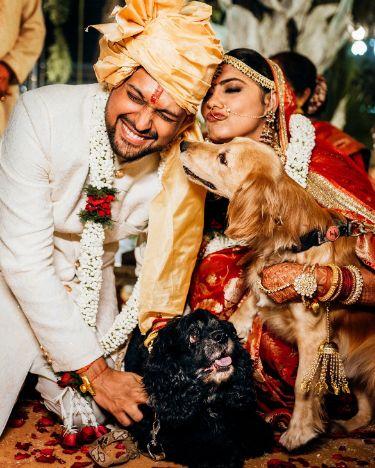 dogo lover couple   eco friendly wedding