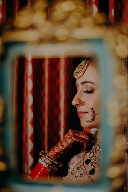 Indian bridal portraits | Rimple & Harpreet Wedding Lehenga