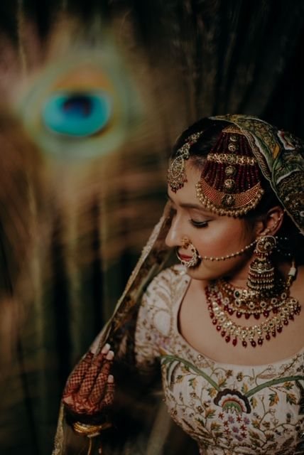 indian bridal photoshoot ideas | Rimple & Harpreet Wedding Lehenga