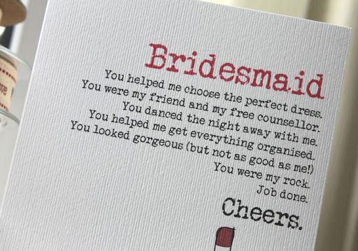 INDIAN bridesmaid tahnkyou note | bridesmaid gifts to give to indian sister and bridesmaids | Wittyvows | thank you notes