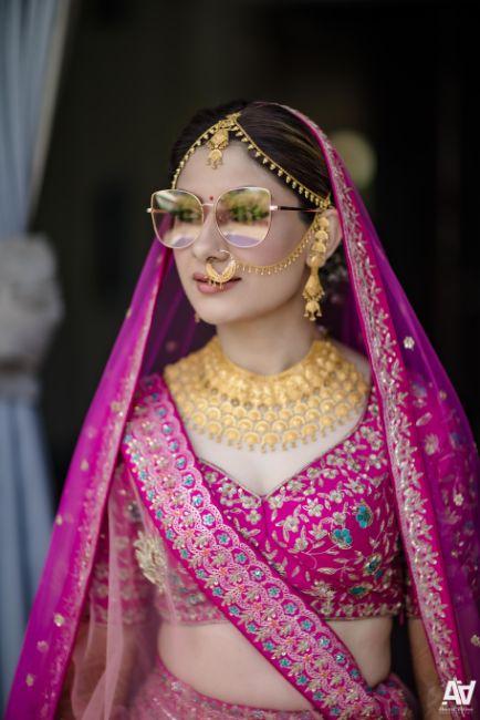 indian bride | bridal jewellery | sunglasses