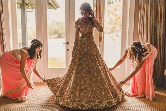 indian wedding bridesmaid | wittyvows