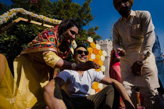 groom's haldi day