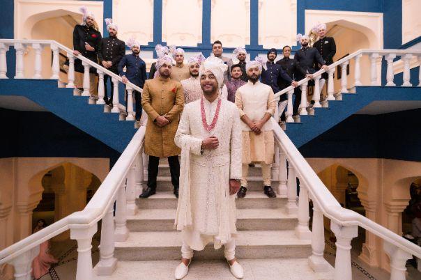 photo with groomsmen | Fun Jaipur Wedding
