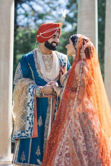 bride in rimple and harpreet lehenga | groom sherwani | Cutest Surprise Proposal Ideas