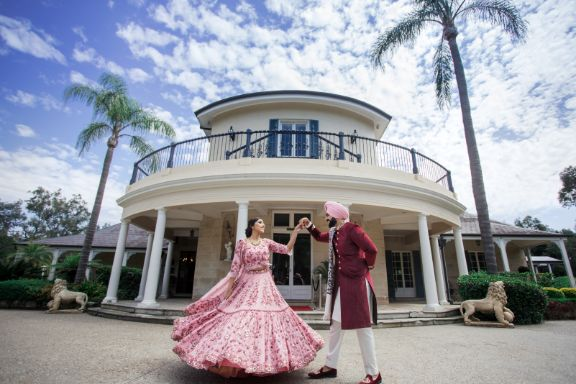 twirling bride   indian wedding photography