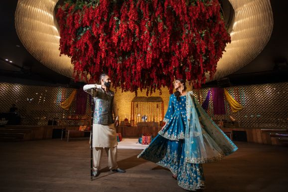 sangeet ceremony | stunning decor for an Indian wedding