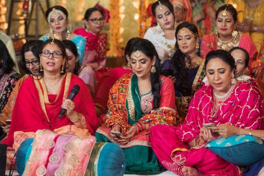 sangeet ceremony   shy bride