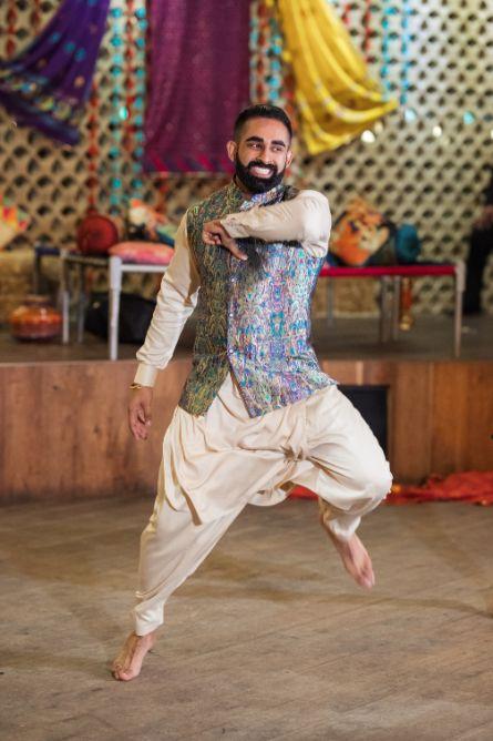 indian groom dance performance