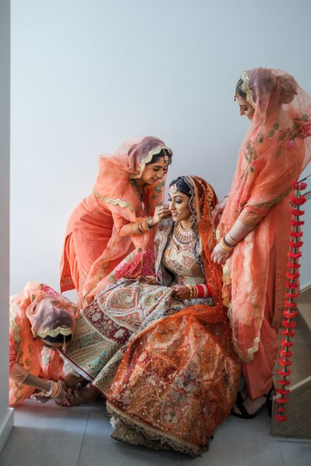 indian bride getting ready   Cutest Surprise Proposal Ideas