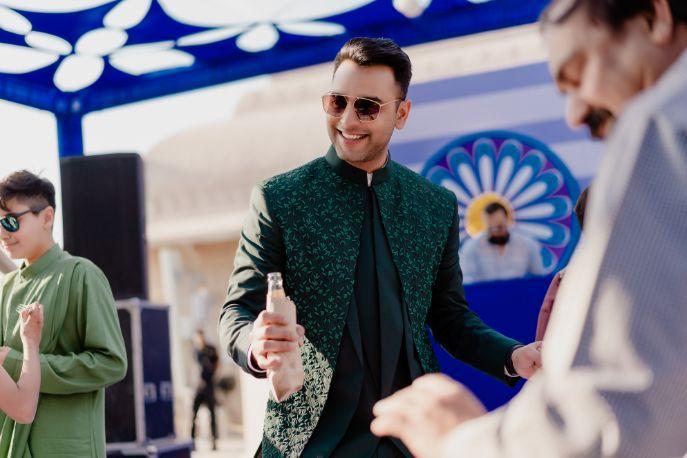 indian groom candid photo