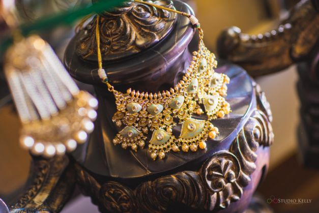 necklace | indian bridal jewellery | Pastel Wedding with a Stunning Reception Look