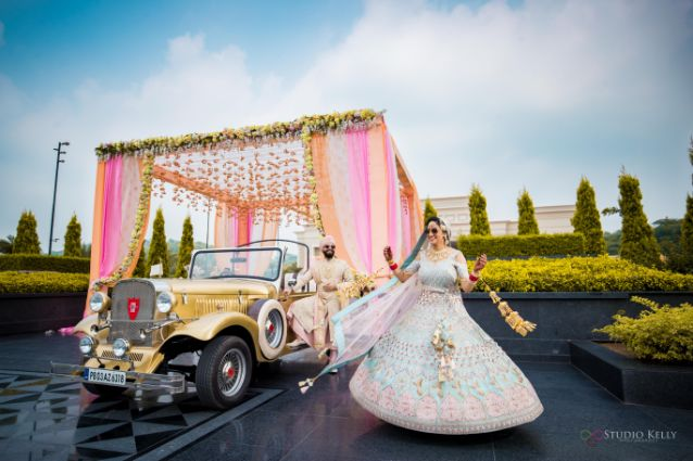 twirling bride | stunning bridal outfit | Pastel Wedding with a Stunning Reception Look