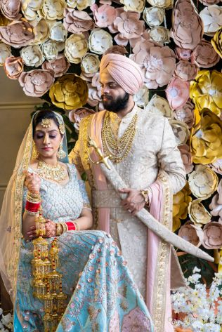 indian couple photoshoot ideas | Pastel Wedding with a Stunning Reception Look