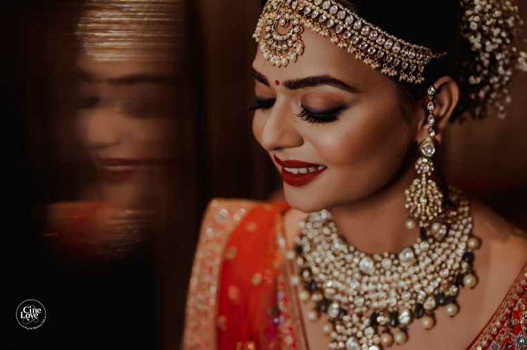 indian bridal jewellery ideas | Gorgeous Sabyasachi Lehenga in Pink - Delhi Wedding