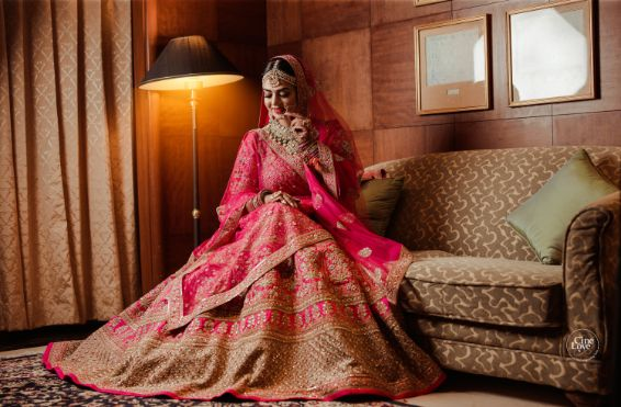 indian bridal lehenga | Gorgeous Sabyasachi Lehenga in Pink - Delhi Wedding