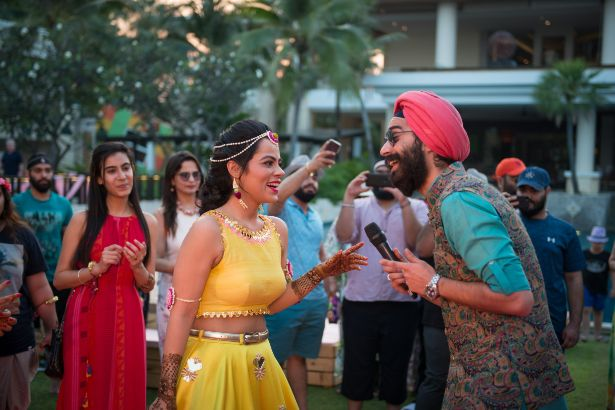 indian wedding diaries | couple having fun