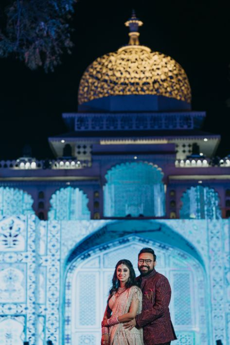 indian couple poses | sangeet day | Destination Wedding in Udaipur