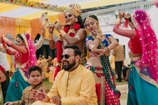 grooms side haldi ceremony
