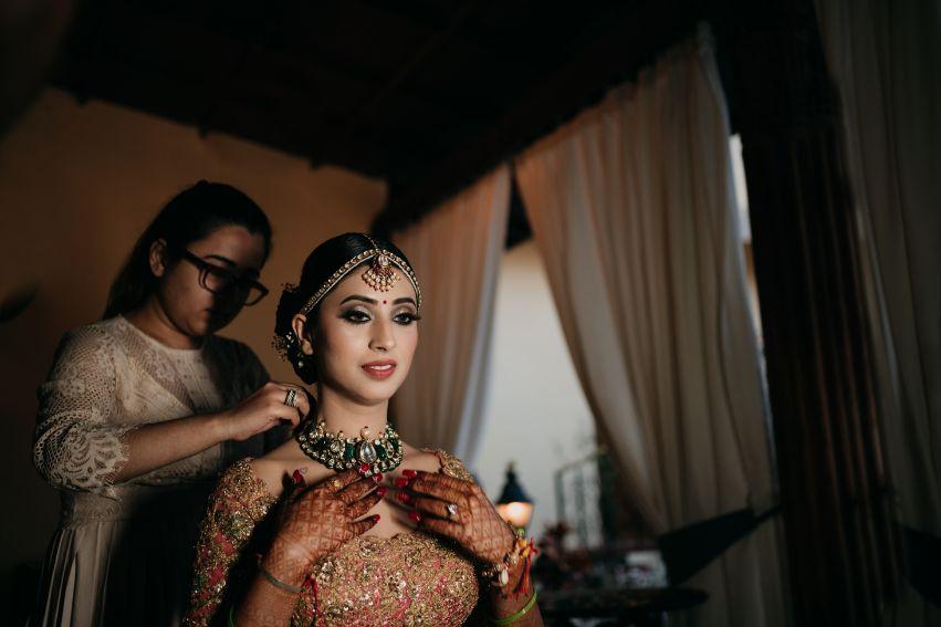 indian bride getting ready | Destination Wedding in Udaipur