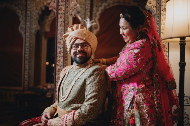 indian groom getting ready | Destination Wedding in Udaipur