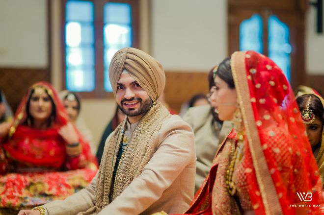 candid photo from an Indian wedding