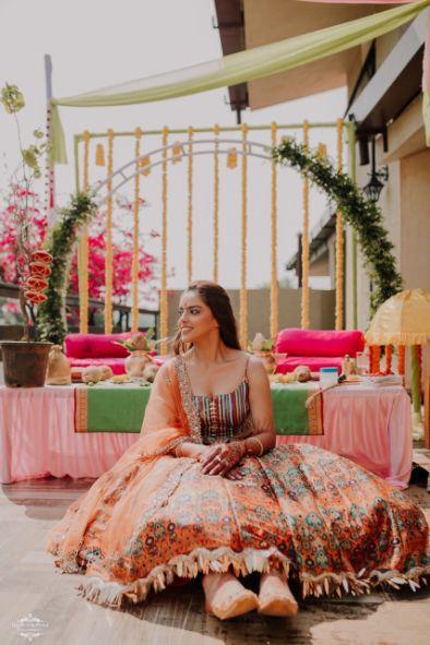 haldi seat | haldi outfit | bridal seat deor