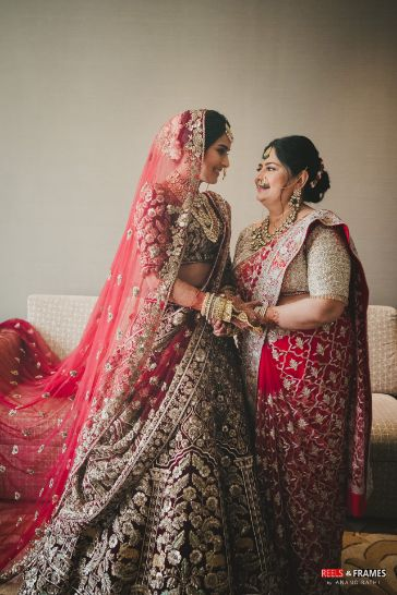 indian bridal dupatta | mother of the bride