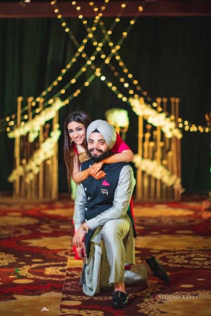 indian wedding | sikh couple | sangeet night & cocktail night