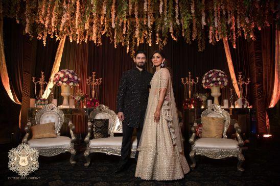 enegagemnt bride and groom photos   Mirror Work Lehenga for Mehendi
