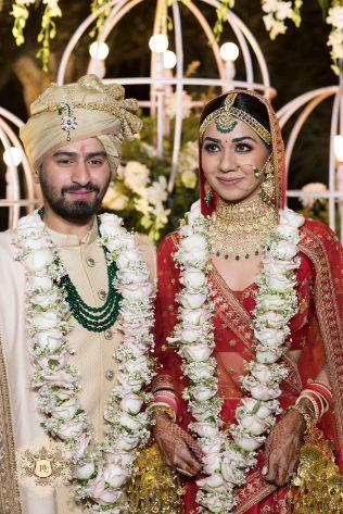 post varmala ceremony photos from an Indian wedding