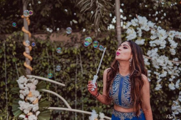 bridal photo shoot   beautiful blue dress