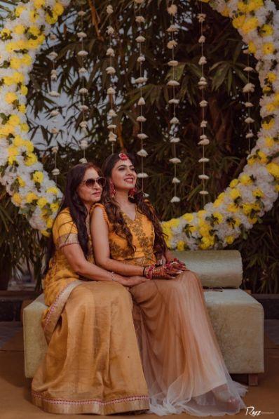 candid captures at a wedding   haldi ceremony