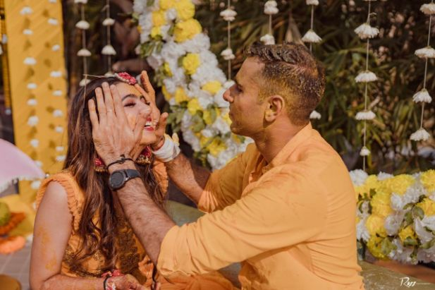 Haldi Ceremony with A Pool Party Theme