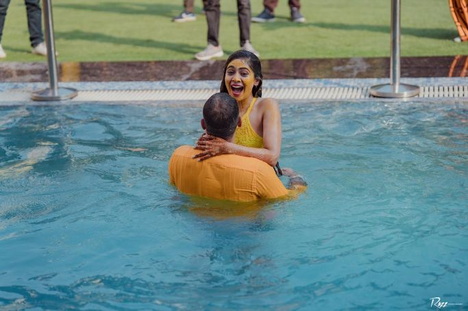 haldi day | pool party