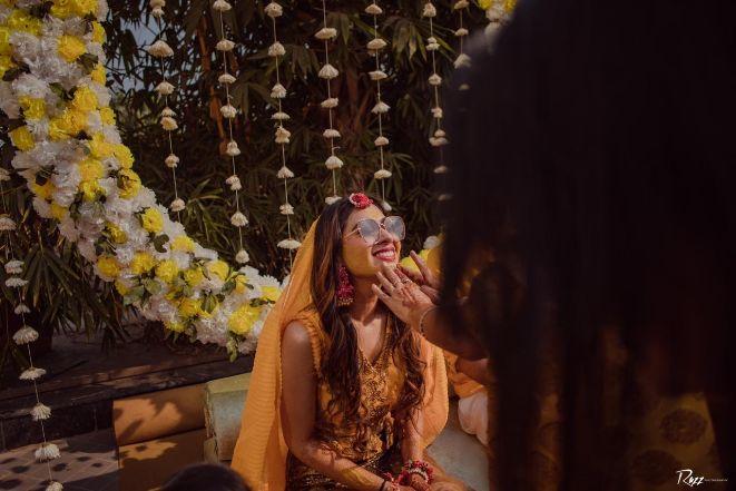 sunglasses | haldi post | haldi ceremony