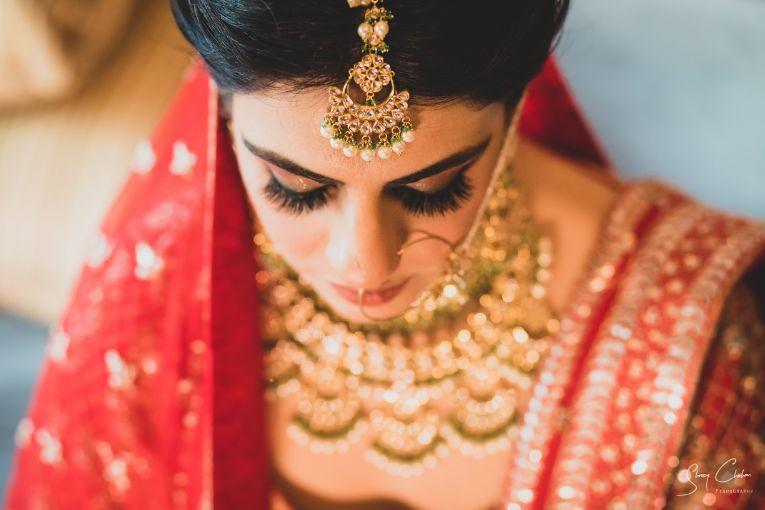briddal details | bridal mekup | Anita Dongre Wedding Lehenga