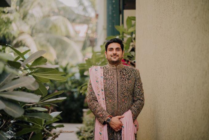 groom photo shoot | Stunning Colourful Wedding Lehenga