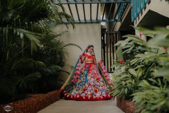 outfit of the bride | indian wedding lehenga | Stunning Colourful Wedding Lehenga - Beautiful Goa Wedding